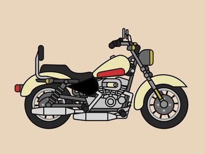 Harley davidson motorcycle illustration