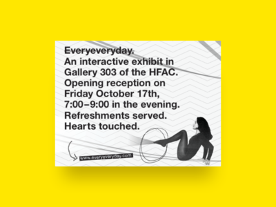 Everyeveryday - Exhibit Flyer