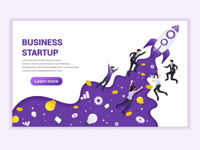 Business Startup concept illustration start-up start up startup ui elements branding ui business concept app icon design landing page ui kit ui design onboarding screens web design flat illustration illustration flat vector
