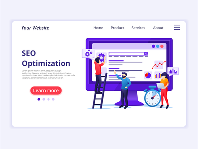 Seo Analysis optimization analysis seo ui elements branding ui business concept app icon design landing page ui kit ui design onboarding screens web design flat illustration illustration flat vector
