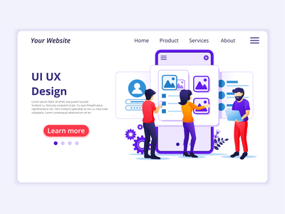 UI UX Design concept illustration ui ux design developer programmers ui elements branding ui business concept app icon design landing page ui kit ui design onboarding screens web design flat illustration illustration flat vector