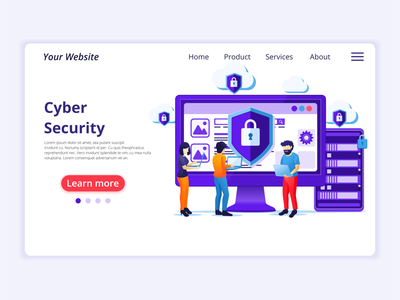 Cyber Security concept illustration data protection network internet computer security cyber security ui elements ui concept app icon design landing page ui design onboarding screens web design flat illustration illustration flat vector