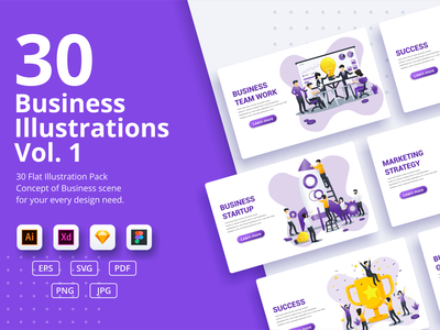 Business concept illustrations sale collection pack ui elements branding ui business concept app icon design landing page ui kit ui design onboarding screens web design flat illustration illustration flat vector