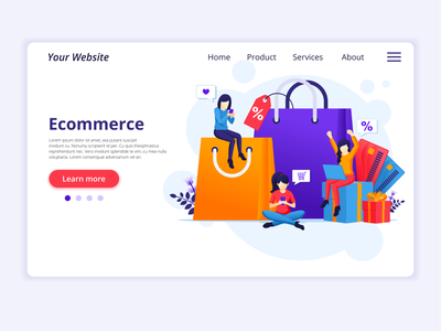 E-Commerce Illustration ui design web design flat illustration illustration flat vector market sale discount debit card credit e-commerce website e-commerce design e-commerce shop digital shopping online commerce e-commerce