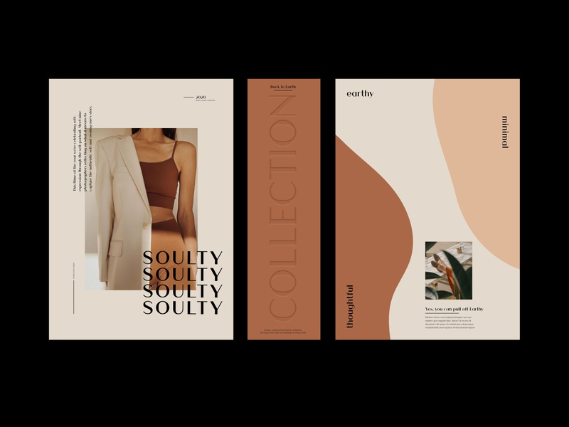 Branding Items for Soulty abstract abstract shapes earthy graphic stationery design typography minimal layout visual identity logo branding