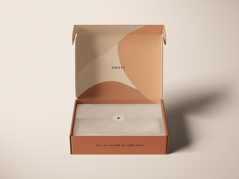 Packaging Design for Soulty packagingdesign organic abstract earthy packaging logo minimal visual identity branding