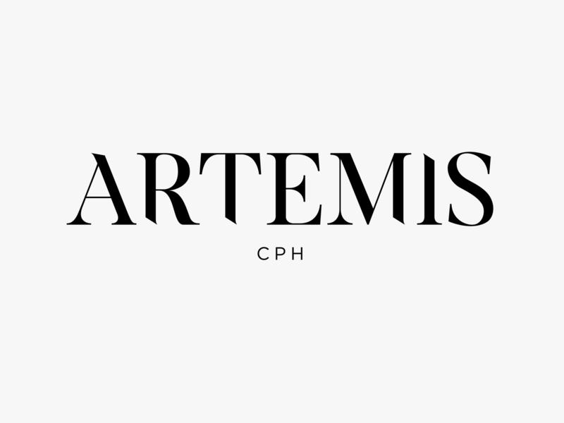 Logo Design for Artemis premium black and white typogaphy minimal logodesign typeface graphicdesign design logotype branding logo