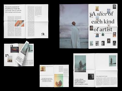 Quarterly Newspaper for Slice photography publication design typographic illustration minimal editorial layout editorial design branding logo visual identity layout