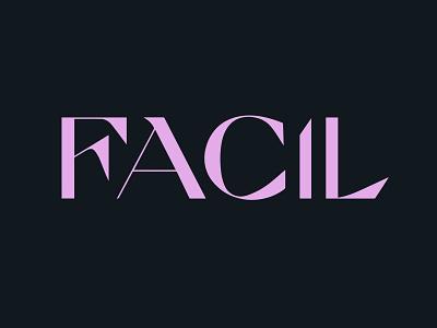 FACIL Logo ai logotype design visual identity logo branding
