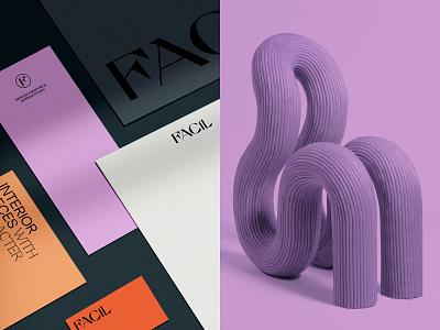 FACIL Branding logotype furniture design interior layout visual identity logo branding