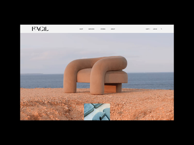 Facil Website Animation & Design ui design furniture website interior website concept webdesign transition animation ui branding
