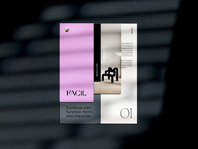 FACIL Brochure Design print branding concept design layout visual identity branding