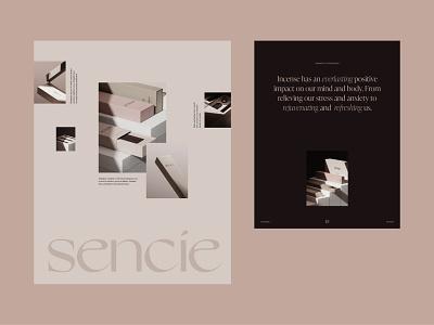 SENCIE minimal muted colors logo illustration logotype layout visual identity branding