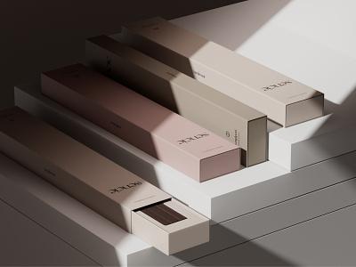 SENCIE Visuals muted colors packagingdesign illustration design minimal logo visual identity branding