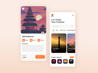 Travel App Design illustrator animation app icon design ui ux branding logo illustration