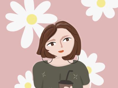 Flower Woman art typography vector branding illustrator design illustration animation