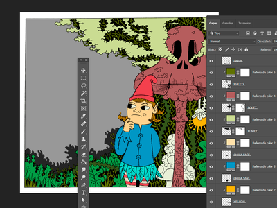 Children's illustration for editorial publication work in process wip drawing art print children illustration illustration color