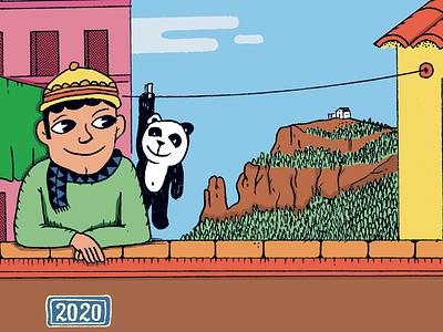 Detail greeting card art drawing illustration