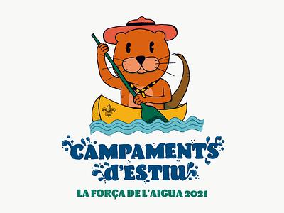 Summer Camp ceskus branding design photoshop educational kids fun children illustration illustration