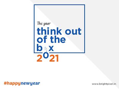 Happy New Year 2021 | Bright Pixel graphic typography designing branding design
