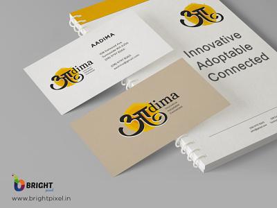 Aadima | Logo Designing | Bright Pixel illustration vector branding icon graphic designing typography logo design