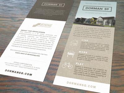 Dorman Sq brochure icons branding print property development mock up