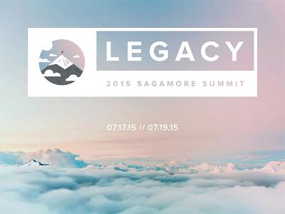 Legacy  unsplash sky negative space gradient illustrator mountain summit leadership nonprofit conference logo legacy