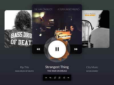 Daily Ui 009 Music Player ux user interface ui album audio music player music dailyuichallenge dailyui009 dailyui adobe xd
