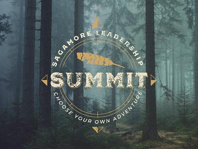 Sagamore Summit 2019 compass hiking outdoors logo design conference appalachian nature design branding illustrator