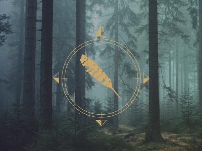 Sagamore Summit 2019 Alt Version compass conference logo outdoors hiking appalachian nature branding illustrator