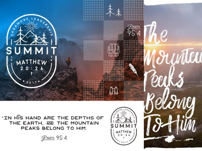 Previous Summit Look and Feel leadership conference christian concept hiking summit icon illustrator branding