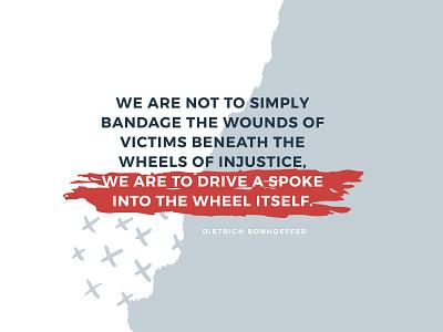Dietrich Bonhoeffer Quote social media simple design inspiration simple justice quotes dietrich bonhoeffer quote illustrator