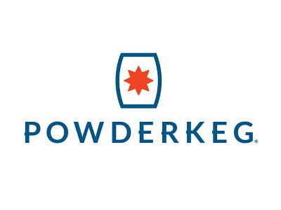 Powderkeg Logo indianapolis meetup powderkeg tech cowboy western midwestern midwest start up typography logo icon branding