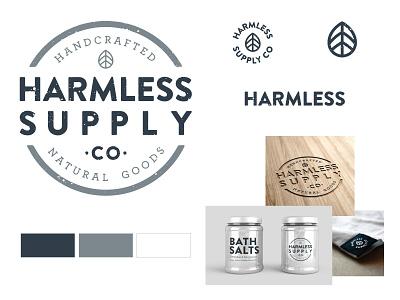 Harmless Branding brand atx satx texas vegan beauty handcrafted natural mockup package design vector typography logo icon branding