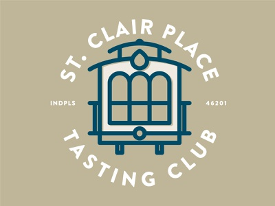 SCPTC train trolly indianapolis illustration vector line branding logo tasting club whisky bourbon whiskey