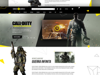 Call Of Duty Infite Warfare Landing Page