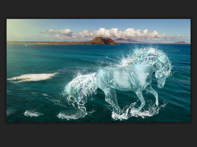 horse collage photo processing illustration creative photoshop