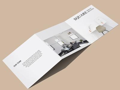 Free Square Z fold Brochure Mockup