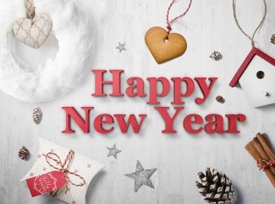 Free Happy New Year Text Mockup