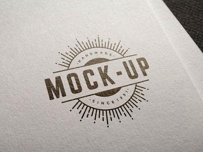 Free Easy Logo Mockup PSD