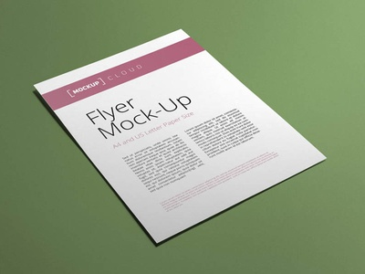 Free A4 and US Letter Flyer Mockup