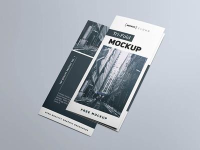 Free Tri Fold Brochure Mockup