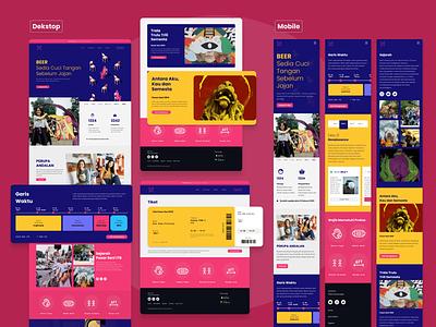 Website Pasar Seni ITB ux design uiux designer ui ui design product designer uiux
