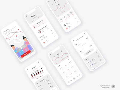 Financial program and currency conversion flat minimal vector ux ui illustration icon design app