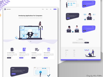 Introducing applications for computers web minimal vector ux ui design