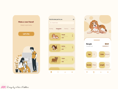 Pet Dog Shopping App graphic design minimal illustration icon app vector ux ui design