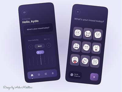 Mood app mood ux icon ui web app webdesign appdesign concept 3d design