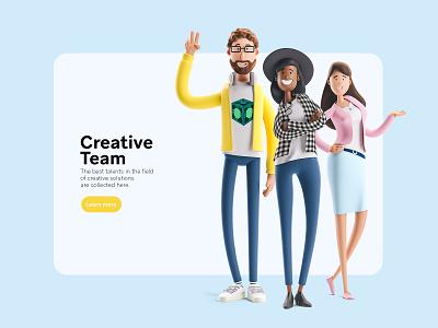 Character Design design character team charcter illustration creative cartoon 3d