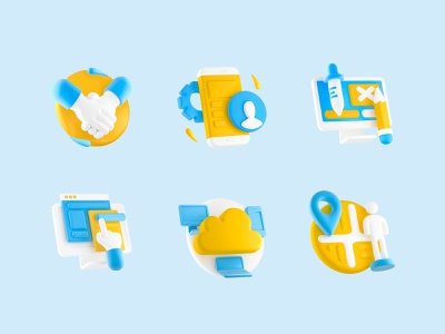 Icons 3d cartoon ui creative design minimalism minimal icons icon 3d
