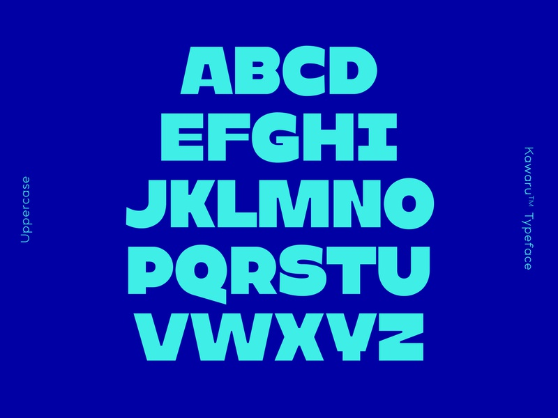 Kawaru™ Typeface: Uppercase